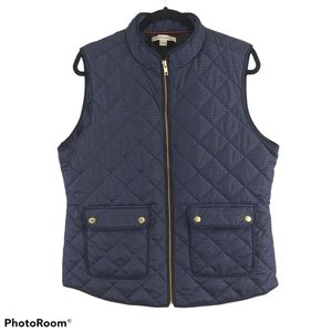 Catherine Malandrino Navy Quilted Puffer Vest